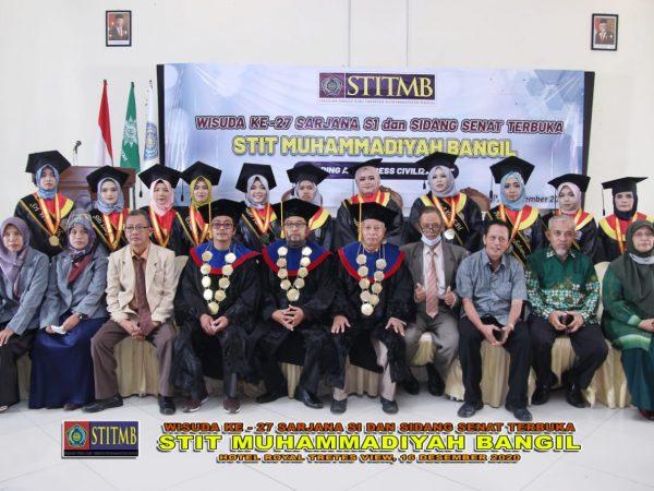 WISUDA XXVII STIT MUHAMMADIYAH BANGIL TAHUN 2020